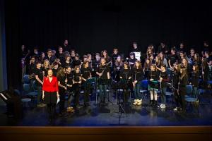 Božično-novoletni nastop komornih skupin, pevskega zbora in orkestrov Glasbene šole Kamnik